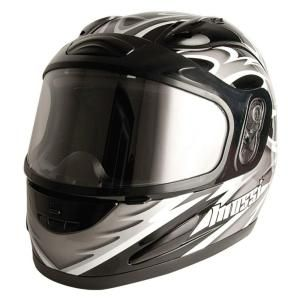 Mossi Medium Adult Silver Full Face Snowmobile Helmet 36 683SV 14