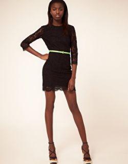 MSGM  Vestido de encaje con ribete de puntilla de MSGM en
