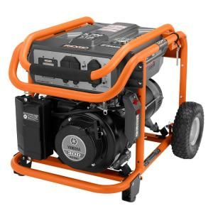 RIDGID 5,700 Watt Yamaha 301 cc Gasoline Powered Portable Generator RD905712