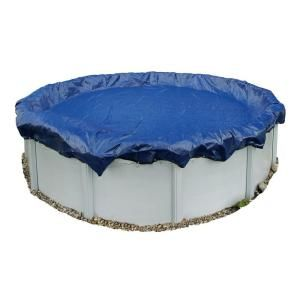 Dirt Defender 15 Year 24 ft. Round Royal Blue Above Ground Winter Pool Cover BWC908