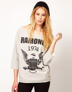 Amplified  Sudadera con escote oblicuo The Ramones de Amplified en