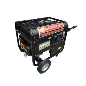 Powerland 10,000 Watt 16 HP Gasoline Powered Portable Gas Generator with Electric Start and Auto Idle Control PD10000E