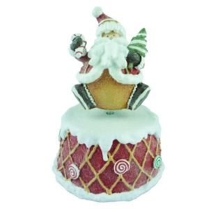 5.8 in. Musical Gingerbread Man Tabletop Decoration HX1273B