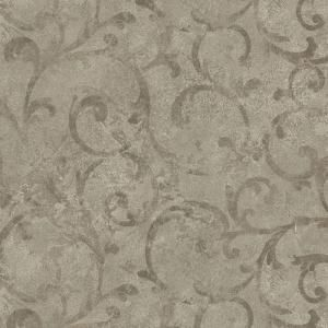 Brewster 8 in. W x 10 in. H Marble Textured Scroll Wallpaper Sample GK80708SAM