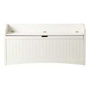 Home Decorators Collection Madison White 48 in. W Lift Top Storage Bench 7825920410