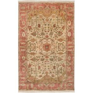 Artistic Weavers Ibrahim Gold 9 ft. x 13 ft. Semi Worsted New Zealand Wool Area Rug Ibrahim 913