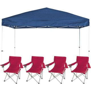 First Up 10X10 Gazebo with 2 Ozark Trail Deluxe Arm Chair