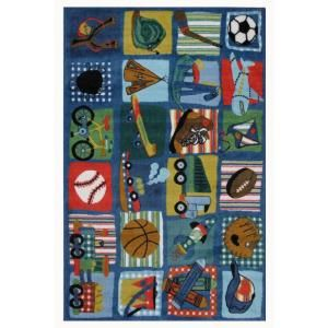 LA Rug Inc. Supreme Funky Boys Quilt Multi Colored 39 in. x 58 in. Area Rug TSC 248 3958