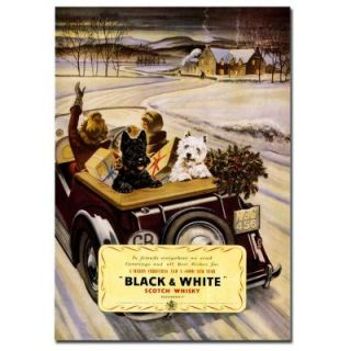 Trademark Fine Art 18 in. x 24 in Black and White Whisky Canvas Art V7059 C1824GG