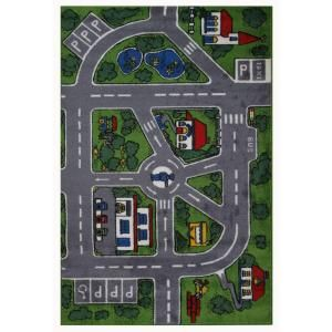 LA Rug Inc. Supreme Streets Multi Colored 5 ft. 3 in. x 7 ft. 6 in. Area Rug TSC 083 5376
