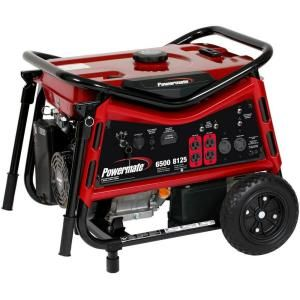 Powermate 6,500 Watt Gasoline Powered Portable Generator PM0106507