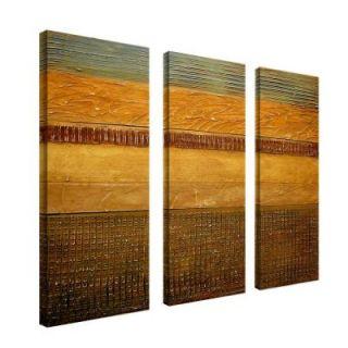 Trademark Fine Art 8 in. x 24 in. Earth Layers 3 Piece Canvas Art Set MC018 set