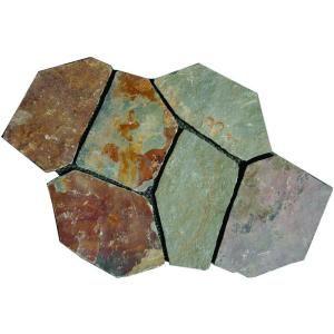 MS International Santa Barbara 2.75 Sq. ft. Natural Slate Meshed Flagstone Paver Tile (48 Pieces / 132 Sq. ft. / Pallet) LHDCGMESHRANDOM