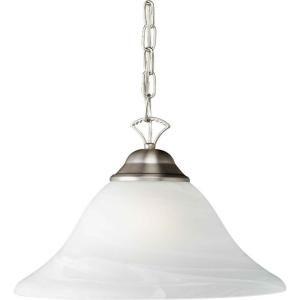 Illumine Burton 1 Light Brushed Nickel Incandescent Pendant CLI FRT2042 01 55