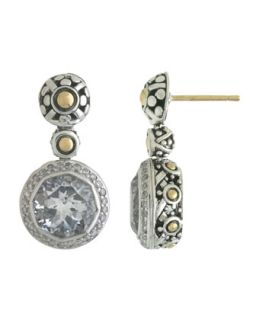 Batu Sari White Topaz and Diamond Pave Earrings