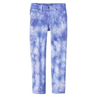 Girls Tye Dye Print Skinny Jean   Bright Blue 6