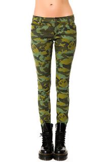 Tripp NYC Jean The Hidden Skull in Camo Green