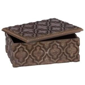 Home Decorators Collection Peri 5 in. H x 12 in. W Natural Wood Decorative Box DISCONTINUED 1178610910