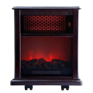 American Comfort 1500 Watt Portable Infrared Fireplace Heater Solid wood construction   Espresso ACW0040WE