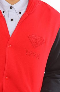 Diamond Supply Co. Jacket Varsity Jacket in Red, Blue, & White