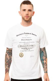 Diamond Supply Co. Tee Gem Institute Crew in White