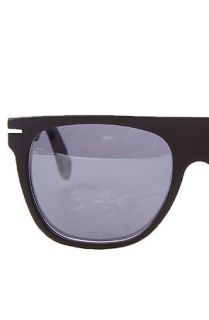 The Super Sunglasses Flat Top Sunglasses in Matte Black & Matte Puma