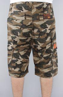 DGK The Fat Tip Camo Cargo Shorts in Army