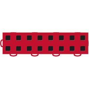 WeatherTech TechFloor 3 in. x 12 in. Red/Black Vinyl Flooring Tiles (Left Loop) (Quantity of 10) 51T312LL RD BK