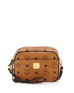 Visetos Mini Crossbody Bag, Cognac   MCM
