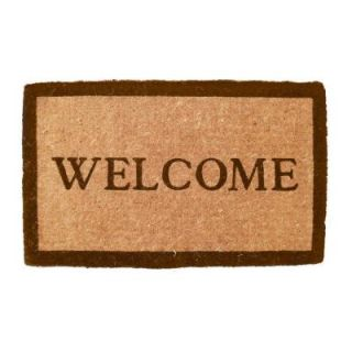 Entryways Simply Welcome 18 in. x 30 in. Extra Thick Hand Woven Coir Door Mat 934 F