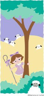 Bright Little Bo Peep Paint by Number Wall Mural: Baby