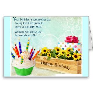 . Happy  Birthday son Greeting Card