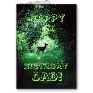 Happy Birthday dad! Deer in woods Greeting Card