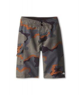 Quiksilver Kids Swamp Stomp Boardshort Boys Swimwear (Navy)