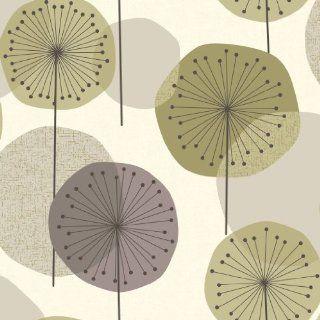 Revival 5658 Vlies Tapete Pusteblumen Retro Stil violett grün altweiß IKEA Katalog 2014 / S. 148 Baumarkt
