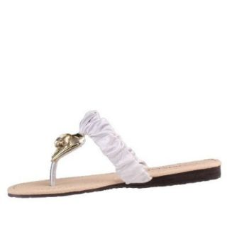 Damen Schuhe, SANDALEN, ZEHENTRENNER IN LEDER OPTIK PUMPS, 88 154, Satin, Silber, Gr 41 Schuhe & Handtaschen