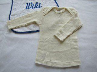 Cosilana Baby Schlupfhemd langarm Wolle/Seide mit Feinwaschmittel von Wiki Naturwaren, 50/56, (01) natur: Bekleidung