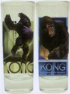 King Kong Official Movie Merchandise Shotglasses 2 Pack Novelty: Toys & Games