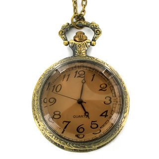 West Coast Jewelry Antiqued Bronze Colored Clock Necklace West Coast Jewelry Fashion Necklaces