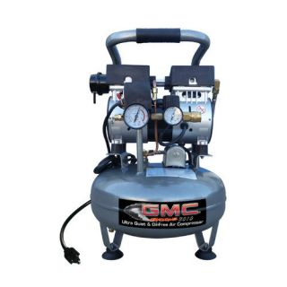 GMC Power Equipment 3.0 Gallon GMC SYCLONE 3010 Ultra Quiet and Oil Free Air Compressor Tools