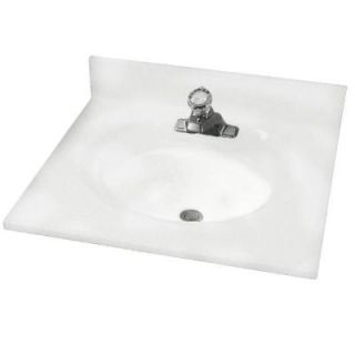 American Standard Astra Lav 25 in. Cultured Marble Single Basin Vanity Top in White Swirl with White Swirl Basin CMA8254.801