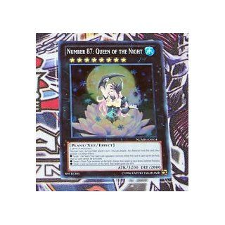 NUMH EN034 NUMBER 87: QUEEN OF THE NIGHT from Number Hunters booster series   1st Edition Brand New Super Rare Holographic YuGiOh Card (w/ protecive Top loader & 1st class shipping w/ tracking): Toys & Games
