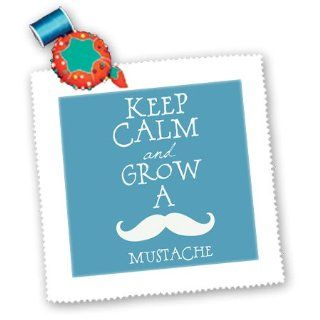 qs_130668_4 PS Creations   Keep Calm and Grow a Mustache blue and white hipster retro   Quilt Squares   12x12 inch quilt square