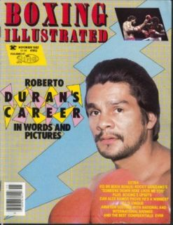 BOXING ILLUSTRATED Roberto Duran Rocky Graziano Alex Ramos ++ 11 1982: Entertainment Collectibles