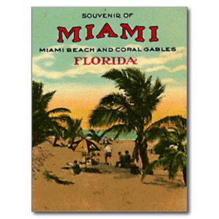 Vintage Miami Beach, Florida, USA   Post Cards