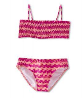 Billabong Kids Wave Bandeau Set Girls Swimwear Sets (Orange)