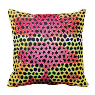 Leopard Print Mushroom Cloud Pillow