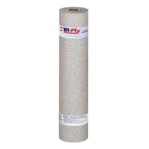 GAF Tri Ply 32 ft. 6 in. x 3 ft. 3 in. White Roll Roofing Cap Sheet 3489920
