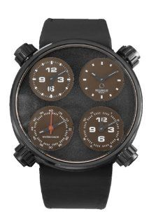 Meccaniche Veloci Men's W124K098371017 Automatic Titanium Black and Brown Dial Dual Time Watch at  Men's Watch store.