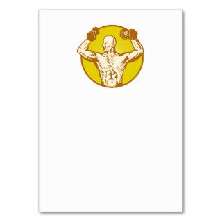 male human anatomy body builder flexing muscle business card templates